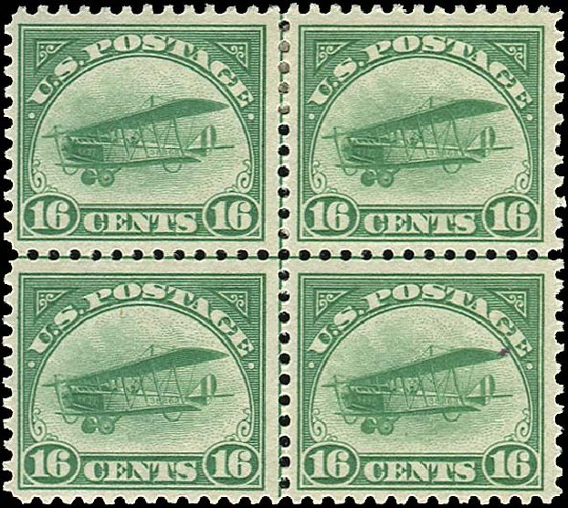 US Stamps Prices Scott Catalog C2 - 1918 16c Air Curtiss Jenny. Regency-Superior, Nov 2014, Sale 108, Lot 1070