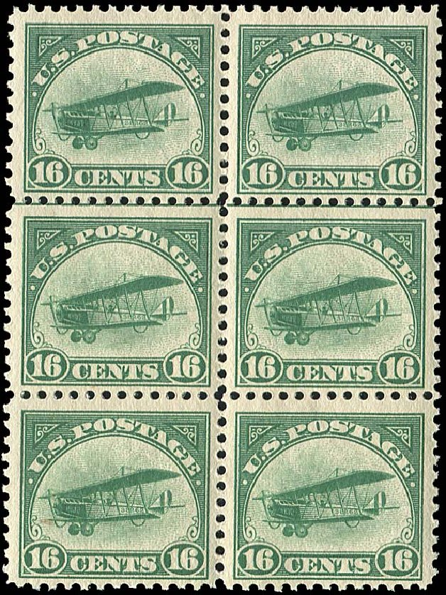 US Stamps Value Scott # C2 - 16c 1918 Air Curtiss Jenny. Regency-Superior, Jan 2015, Sale 109, Lot 1390