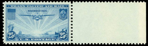 Prices of US Stamps Scott Cat. C20 - 25c 1935 Air China Clipper. Daniel Kelleher Auctions, Sep 2014, Sale 655, Lot 837