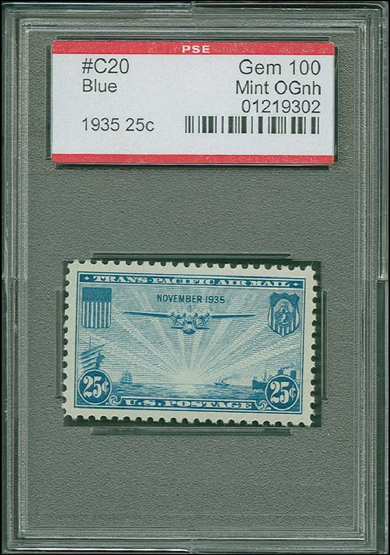 Costs of US Stamp Scott Cat. #C20: 25c 1935 Air China Clipper. H.R. Harmer, Jun 2015, Sale 3007, Lot 3460