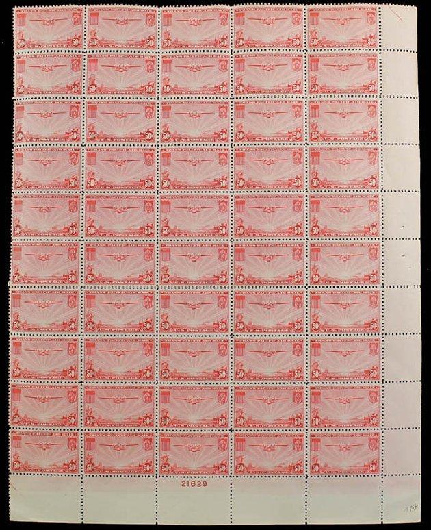Price of US Stamps Scott # C22 - 50c 1937 Air China Clipper. Daniel Kelleher Auctions, Sep 2014, Sale 655, Lot 838