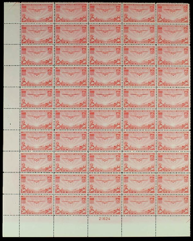 Value of US Stamp Scott Cat. C22 - 50c 1937 Air China Clipper. Daniel Kelleher Auctions, Jun 2012, Sale 630, Lot 1979