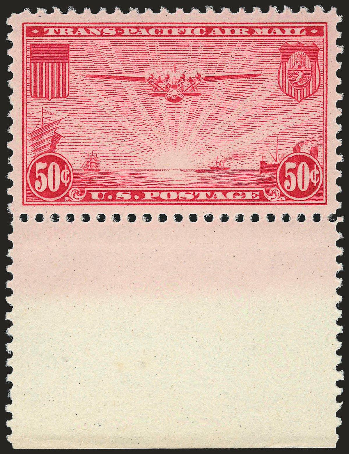 Values of US Stamp Scott #C22: 1937 50c Air China Clipper. Robert Siegel Auction Galleries, Dec 2008, Sale 967, Lot 5069
