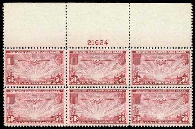 US Stamps Prices Scott C22 - 50c 1937 Air China Clipper. Matthew Bennett International, Apr 2008, Sale 326, Lot 590