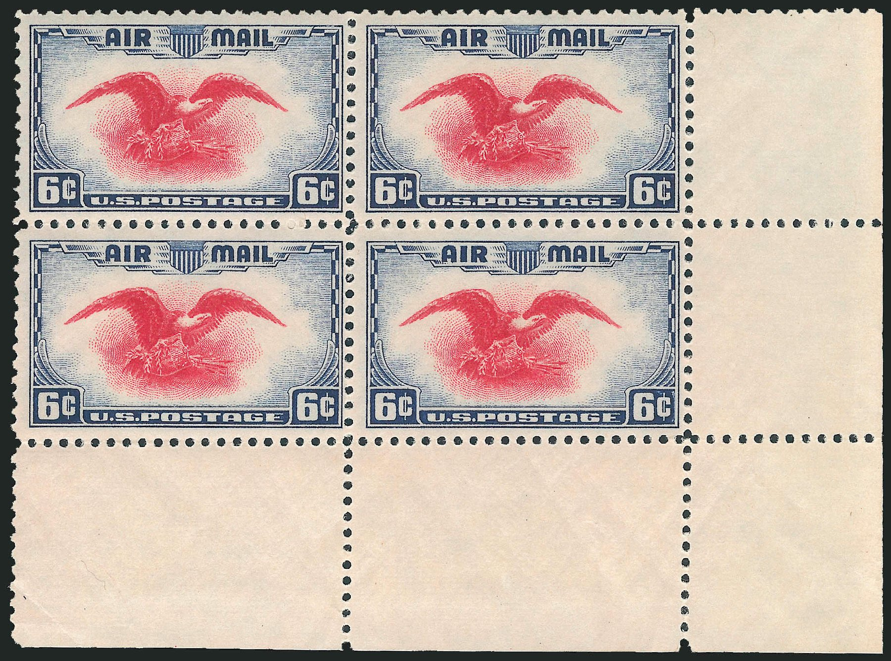 Price of US Stamps Scott Catalogue # C23: 1938 6c Air Eagle. Robert Siegel Auction Galleries, Apr 2014, Sale 1068, Lot 397