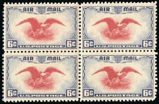 US Stamps Price Scott Catalog #C23: 1938 6c Air Eagle. Spink Shreves Galleries, Jul 2015, Sale 151, Lot 367