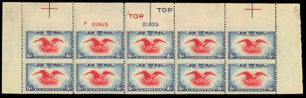 Price of US Stamps Scott Catalog C23 - 1938 6c Air Eagle. Daniel Kelleher Auctions, May 2014, Sale 652, Lot 844