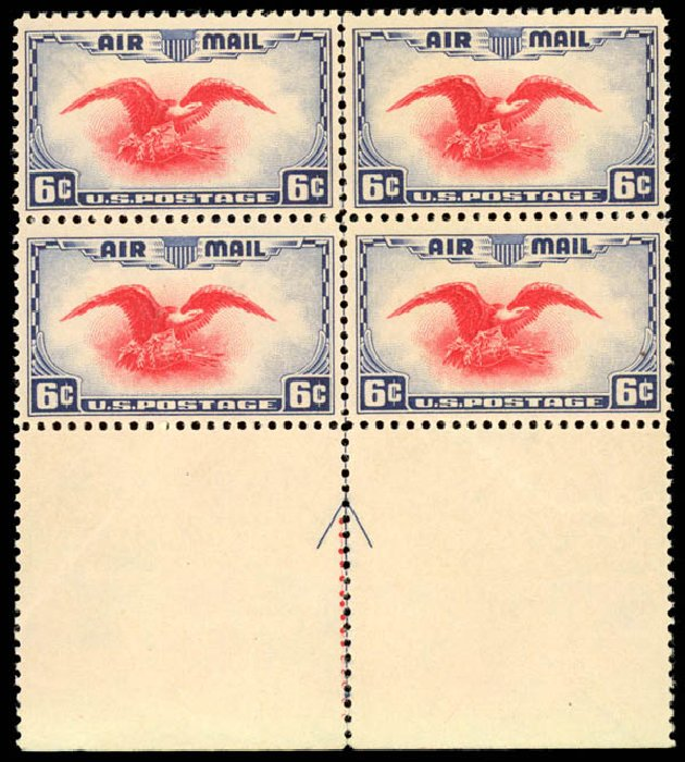 US Stamp Value Scott Catalog # C23 - 6c 1938 Air Eagle. Daniel Kelleher Auctions, Aug 2015, Sale 672, Lot 2903
