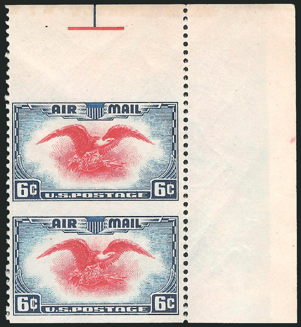 Costs of US Stamp Scott Catalog #C23 - 1938 6c Air Eagle. Robert Siegel Auction Galleries, Nov 2013, Sale 1061, Lot 4086