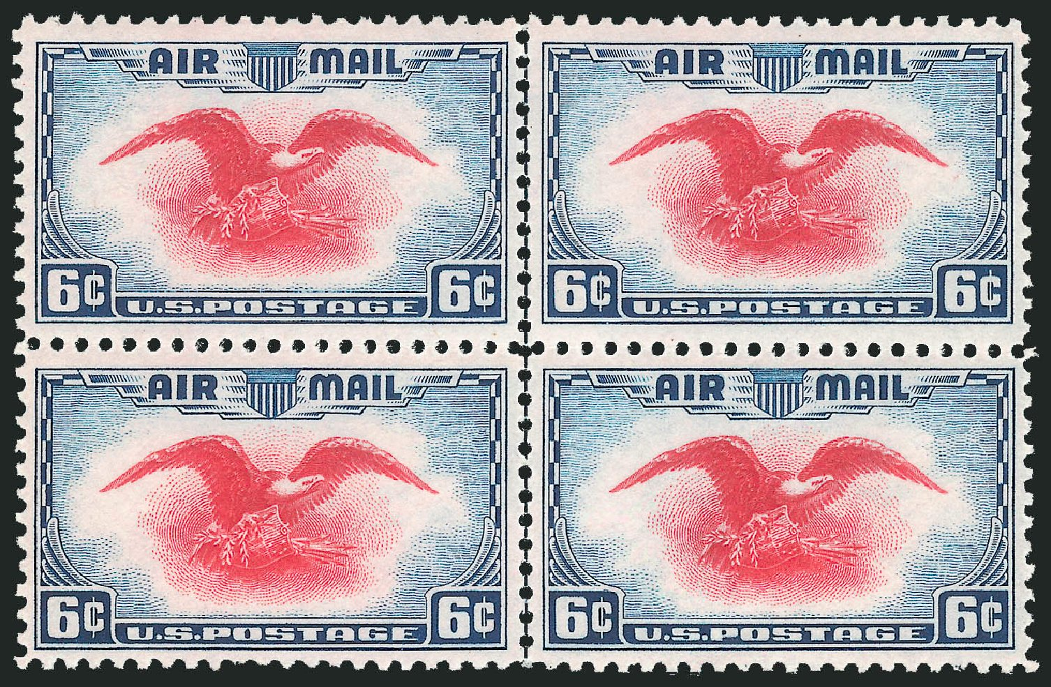 Values of US Stamp Scott C23 - 1938 6c Air Eagle. Robert Siegel Auction Galleries, Oct 2014, Sale 1082, Lot 476