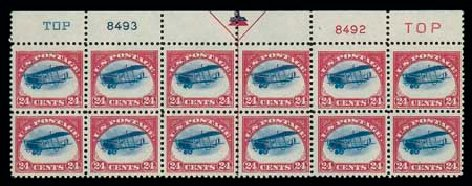 Values of US Stamps Scott Catalog #C3 - 24c 1918 Air Curtiss Jenny. Matthew Bennett International, Jun 2007, Sale 319, Lot 1587
