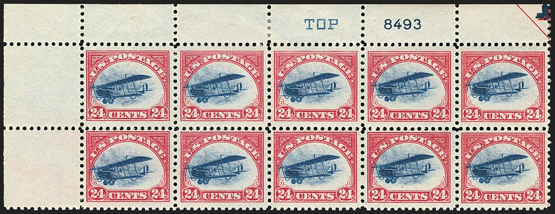 Cost of US Stamps Scott C3 - 1918 24c Air Curtiss Jenny. Robert Siegel Auction Galleries, Jul 2015, Sale 1107, Lot 567