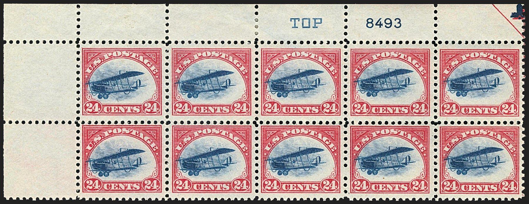 Cost of US Stamps Scott C3 - 1918 24c Air Curtiss Jenny. Robert Siegel Auction Galleries, Jul 2015, Sale 1107, Lot 567