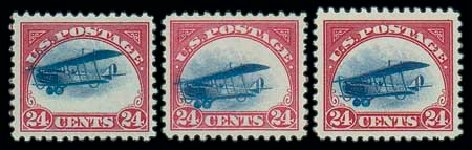 US Stamps Value Scott # C3 - 24c 1918 Air Curtiss Jenny. Matthew Bennett International, Oct 2007, Sale 320, Lot 610