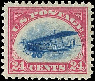 US Stamp Prices Scott Catalogue #C3: 1918 24c Air Curtiss Jenny. Regency-Superior, Aug 2015, Sale 112, Lot 1010