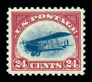 US Stamps Price Scott Catalogue # C3 - 1918 24c Air Curtiss Jenny. Matthew Bennett International, Dec 2007, Sale 325, Lot 2335