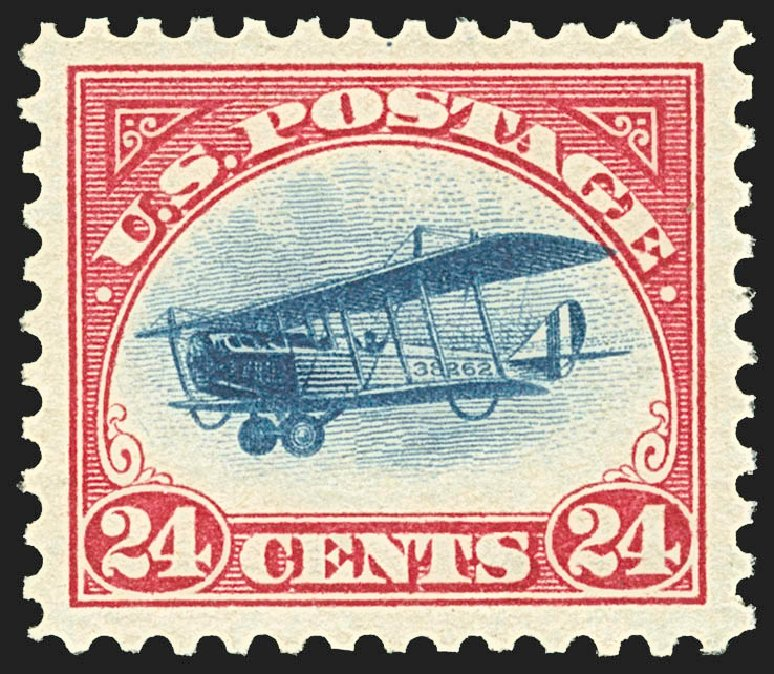 US Stamps Prices Scott Cat. # C3: 24c 1918 Air Curtiss Jenny. Robert Siegel Auction Galleries, Jul 2015, Sale 1107, Lot 565