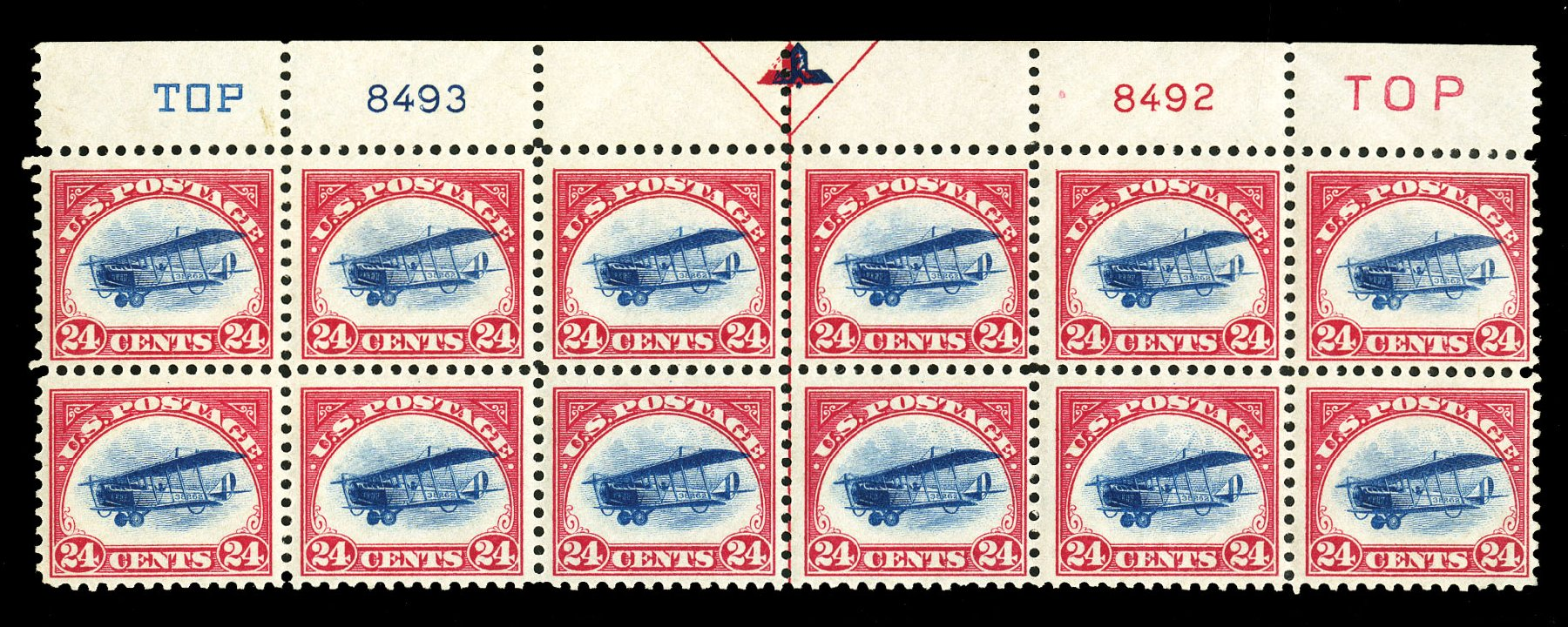 Costs of US Stamp Scott Catalog # C3: 24c 1918 Air Curtiss Jenny. Cherrystone Auctions, Jul 2015, Sale 201507, Lot 2182