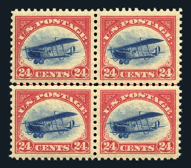 Prices of US Stamp Scott Catalogue #C3: 1918 24c Air Curtiss Jenny. Harmer-Schau Auction Galleries, Aug 2015, Sale 106, Lot 2012
