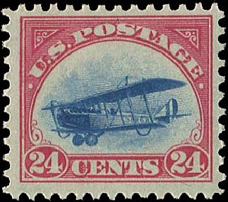 Price of US Stamps Scott Catalogue #C3: 24c 1918 Air Curtiss Jenny. Regency-Superior, Aug 2015, Sale 112, Lot 1012