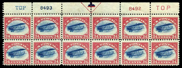 US Stamps Value Scott # C3: 24c 1918 Air Curtiss Jenny. Harmer-Schau Auction Galleries, Aug 2015, Sale 106, Lot 2013