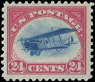 Prices of US Stamp Scott Catalogue #C3: 24c 1918 Air Curtiss Jenny. Regency-Superior, Aug 2015, Sale 112, Lot 1013