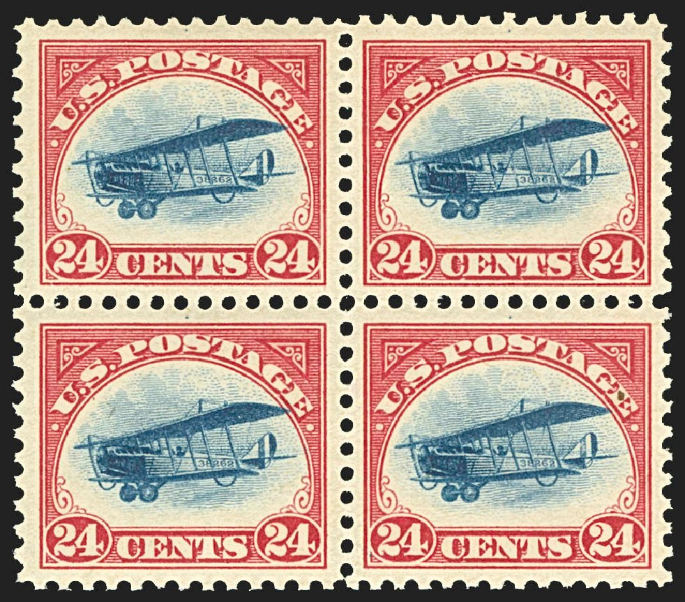 US Stamp Price Scott Catalogue C3: 24c 1918 Air Curtiss Jenny. Robert Siegel Auction Galleries, Jul 2015, Sale 1107, Lot 566