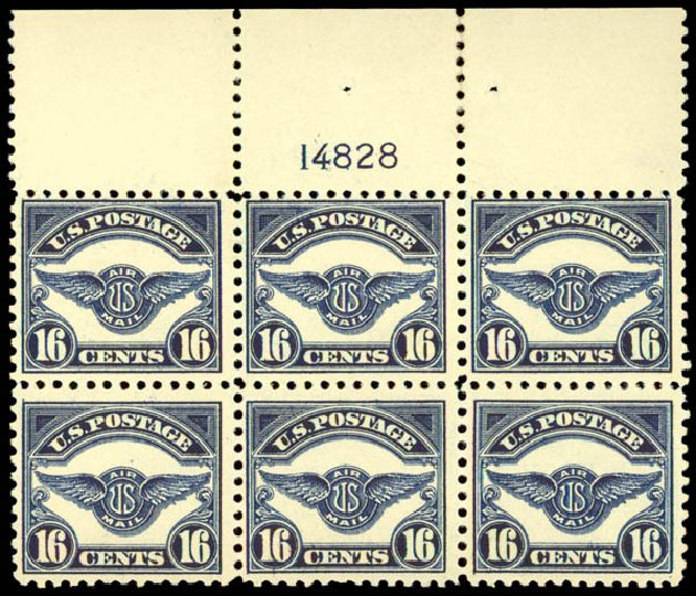 Cost of US Stamps Scott #C5: 16c 1923 Air Service Emblem. Daniel Kelleher Auctions, May 2015, Sale 669, Lot 3234