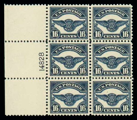 US Stamps Value Scott Catalogue C5: 16c 1923 Air Service Emblem. Matthew Bennett International, Dec 2007, Sale 324, Lot 1235