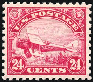 Value of US Stamps Scott Catalog #C6 - 1923 24c Air DeHavilland Biplane. Schuyler J. Rumsey Philatelic Auctions, Apr 2015, Sale 60, Lot 2468