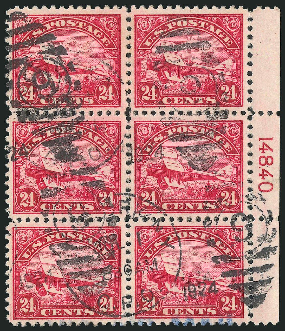 Price of US Stamps Scott Catalog # C6 - 1923 24c Air DeHavilland Biplane. Robert Siegel Auction Galleries, Feb 2015, Sale 1093, Lot 590