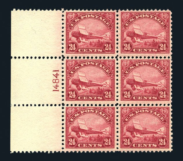 Prices of US Stamps Scott Cat. C6 - 1923 24c Air DeHavilland Biplane. Harmer-Schau Auction Galleries, Aug 2015, Sale 106, Lot 2021