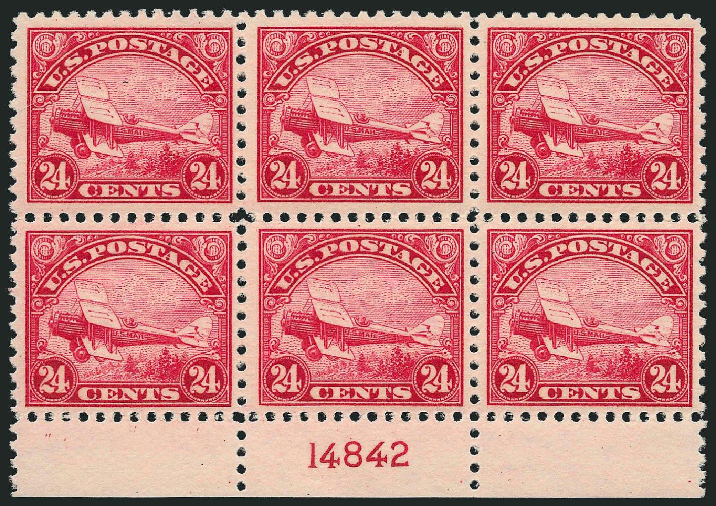 Cost of US Stamp Scott Catalog #C6 - 1923 24c Air DeHavilland Biplane. Robert Siegel Auction Galleries, Sep 2014, Sale 1078, Lot 634