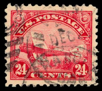 Cost of US Stamp Scott Catalog # C6: 1923 24c Air DeHavilland Biplane. Daniel Kelleher Auctions, May 2015, Sale 669, Lot 3235