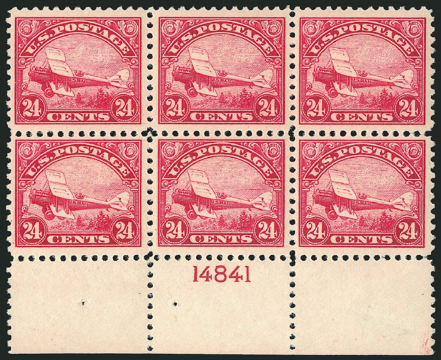 US Stamps Price Scott Catalog #C6 - 24c 1923 Air DeHavilland Biplane. Robert Siegel Auction Galleries, Feb 2015, Sale 1092, Lot 1405