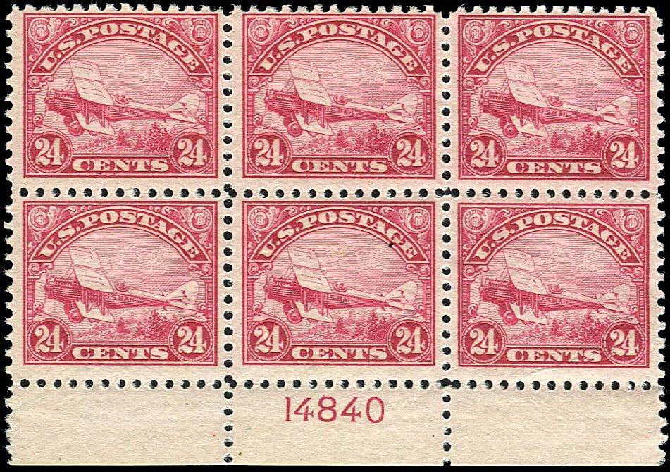 Price of US Stamps Scott C6 - 24c 1923 Air DeHavilland Biplane. Regency-Superior, Jan 2015, Sale 109, Lot 1722