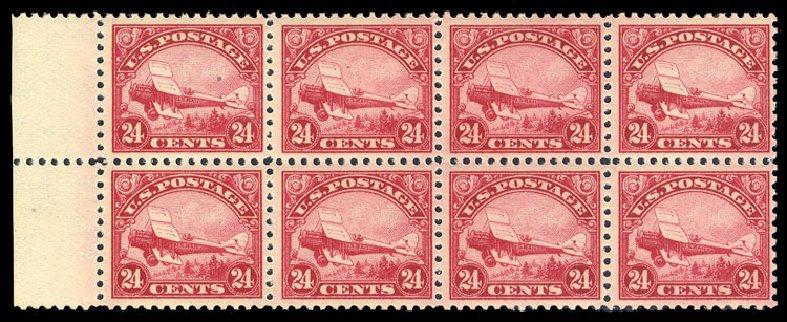 Values of US Stamp Scott Catalog #C6: 24c 1923 Air DeHavilland Biplane. Cherrystone Auctions, Sep 2014, Sale 201409, Lot 76