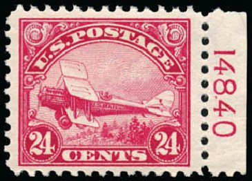 Cost of US Stamp Scott Cat. #C6: 1923 24c Air DeHavilland Biplane. Schuyler J. Rumsey Philatelic Auctions, Apr 2015, Sale 60, Lot 2866