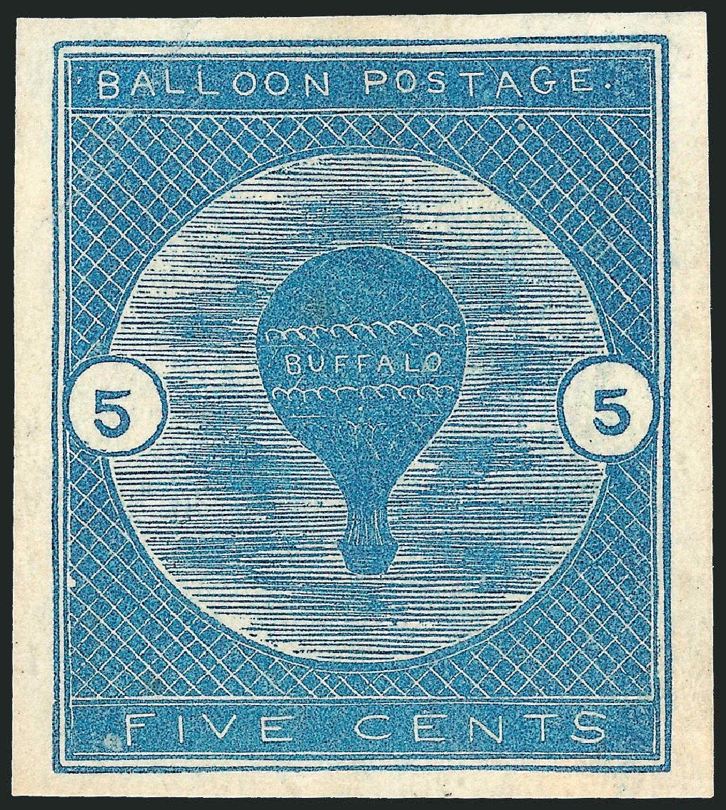 Values of US Stamp Scott Catalogue # CL1 - 5c 1877 Air Buffalo Baloon. Robert Siegel Auction Galleries, Oct 2014, Sale 1082, Lot 477