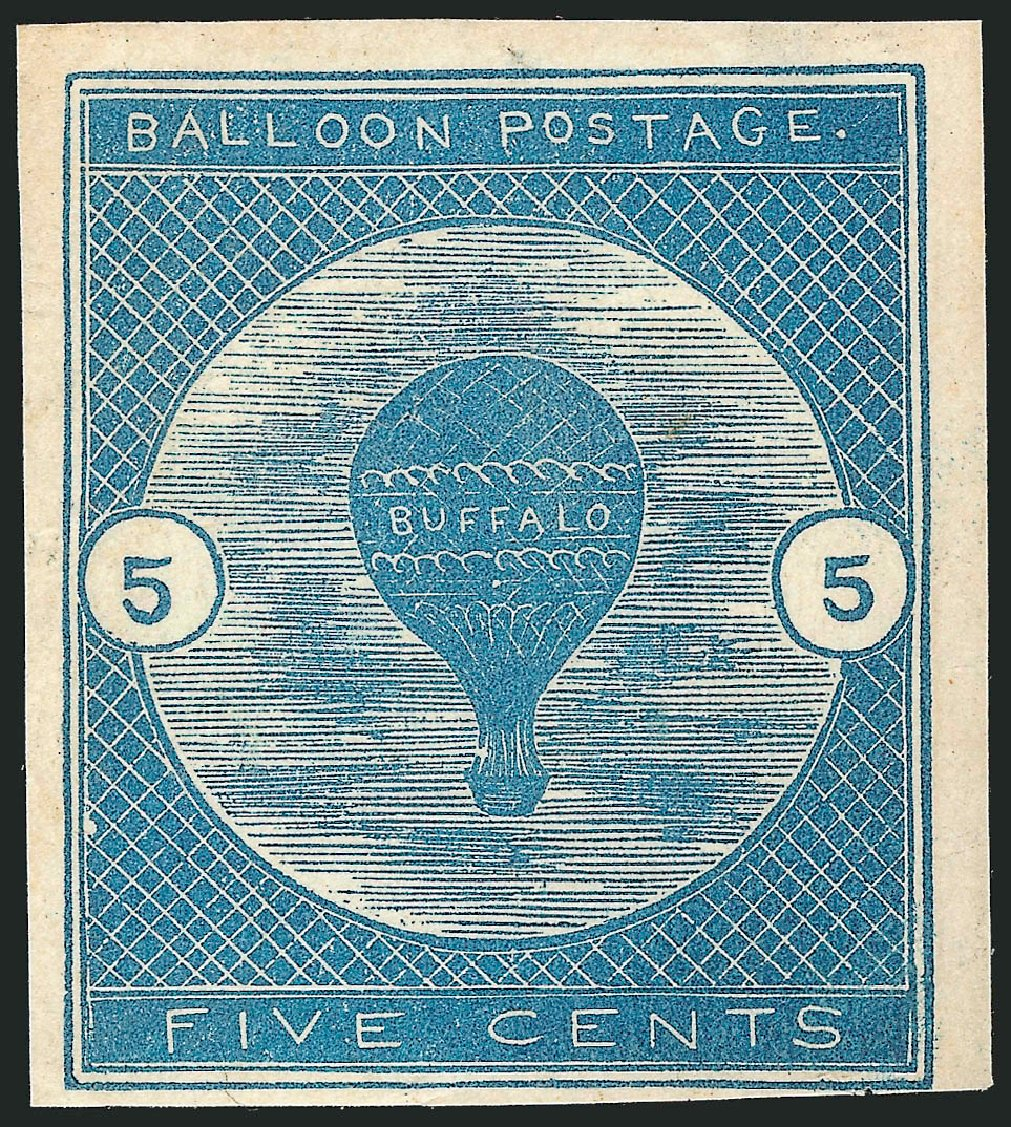 Costs of US Stamp Scott Catalogue # CL1: 1877 5c Air Buffalo Baloon. Robert Siegel Auction Galleries, Apr 2015, Sale 1096, Lot 827