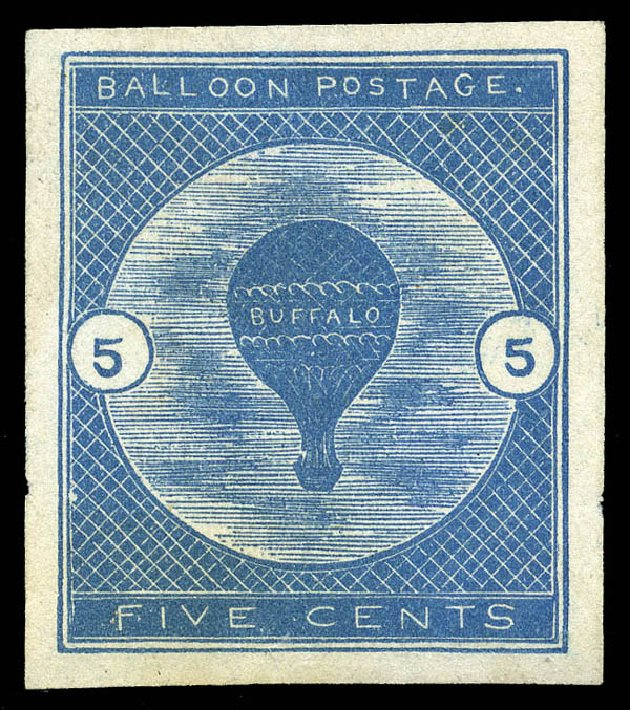 Values of US Stamps Scott Catalogue #CL1: 1877 5c Air Buffalo Baloon. Matthew Bennett International, May 2014, Sale 350, Lot 678