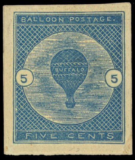 Cost of US Stamps Scott Catalogue # CL1 - 1877 5c Air Buffalo Baloon. Daniel Kelleher Auctions, Oct 2012, Sale 632, Lot 1498