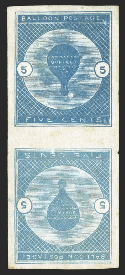 Cost of US Stamps Scott Catalogue CL1: 5c 1877 Air Buffalo Baloon. Spink Shreves Galleries, Jul 2012, Sale 140, Lot 368