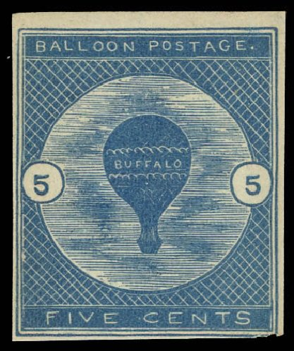 US Stamps Prices Scott CL1: 5c 1877 Air Buffalo Baloon. Daniel Kelleher Auctions, Aug 2012, Sale 631, Lot 1639