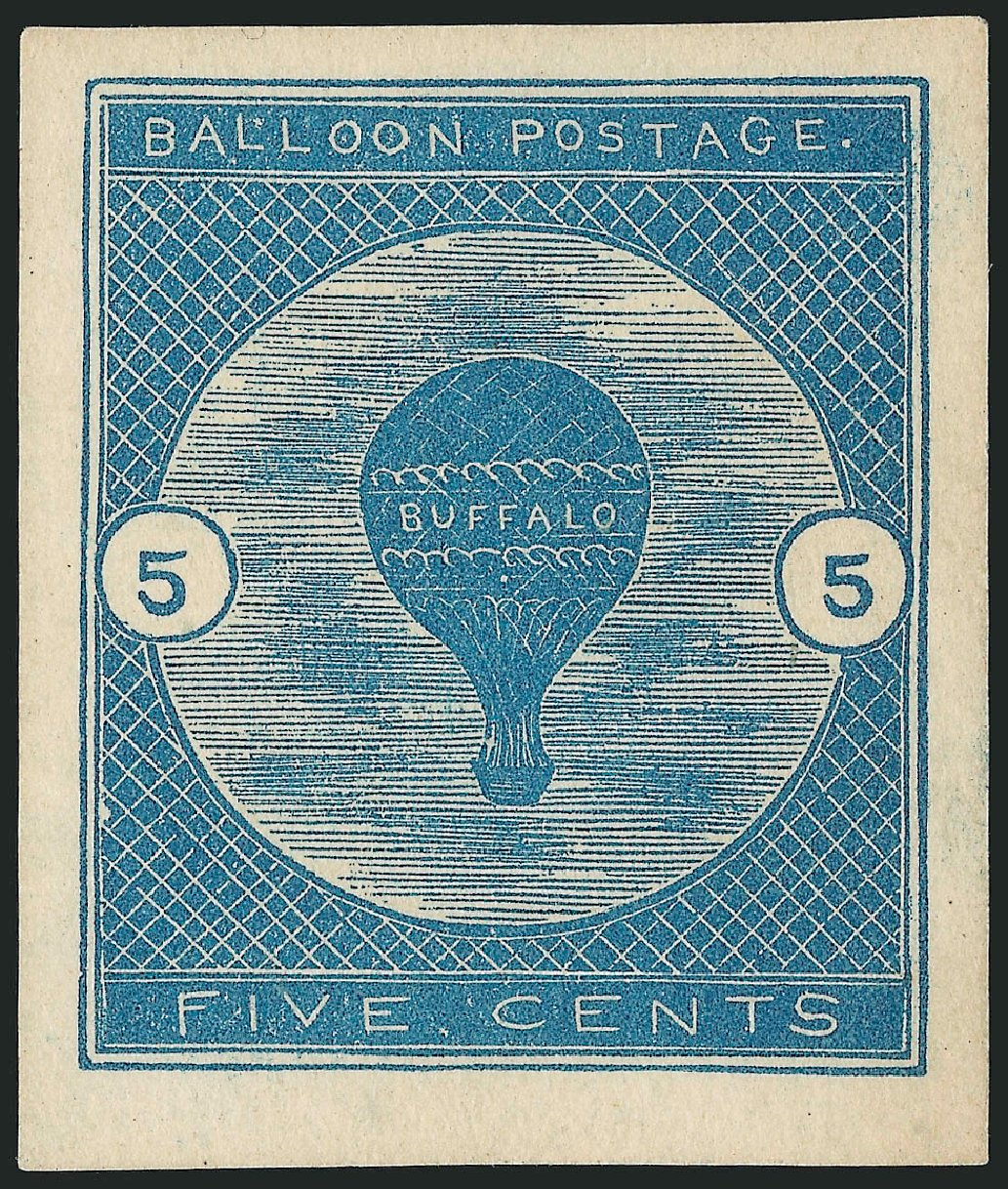Prices of US Stamps Scott Catalogue #CL1: 5c 1877 Air Buffalo Baloon. Robert Siegel Auction Galleries, Sep 2014, Sale 1078, Lot 649
