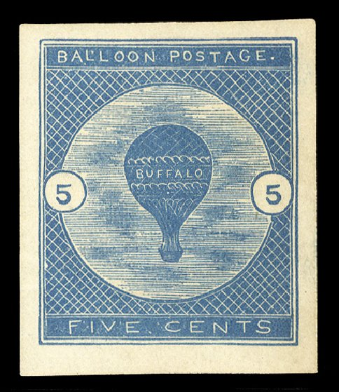 Costs of US Stamp Scott Catalog CL1: 1877 5c Air Buffalo Baloon. Cherrystone Auctions, Jan 2014, Sale 201401, Lot 43