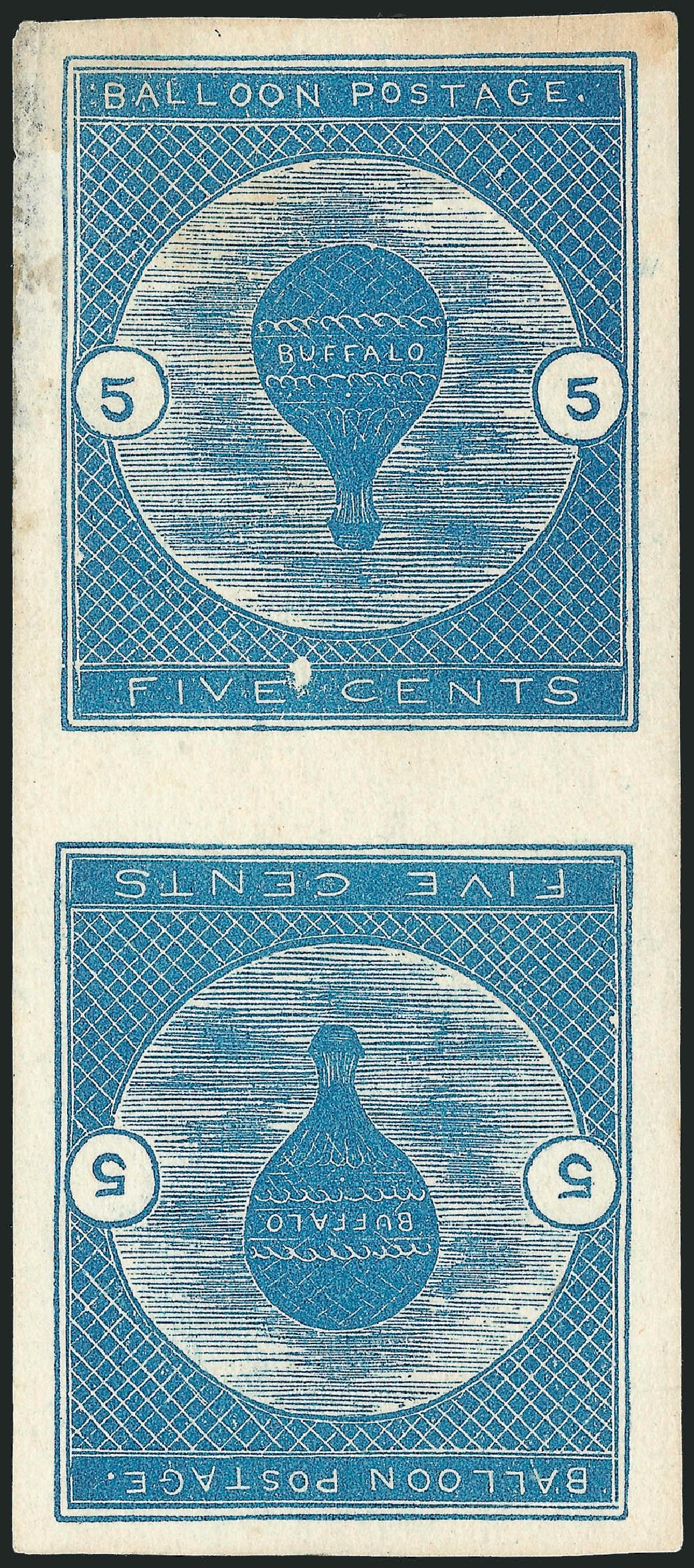 Prices of US Stamps Scott Catalog #CL1: 5c 1877 Air Buffalo Baloon. Robert Siegel Auction Galleries, Jun 2012, Sale 1025, Lot 246