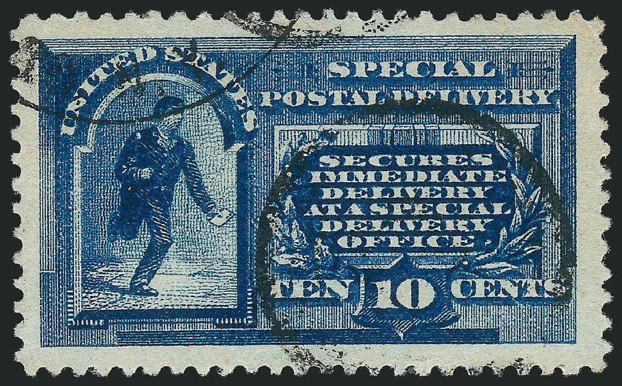 US Stamp Values Scott Catalogue # E1: 10c 1885 Special Delivery. Robert Siegel Auction Galleries, Mar 2015, Sale 1094, Lot 7