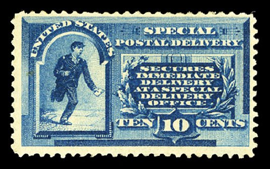 Value of US Stamps Scott Cat. # E1: 10c 1885 Special Delivery. Cherrystone Auctions, Jul 2015, Sale 201507, Lot 2188