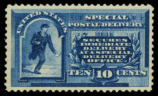 Value of US Stamp Scott Cat. E1 - 1885 10c Special Delivery. Daniel Kelleher Auctions, May 2015, Sale 669, Lot 3269